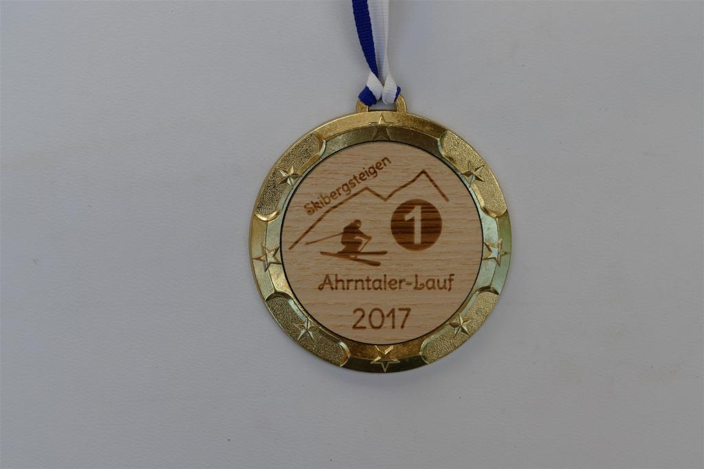 Metall-Holz Medaille